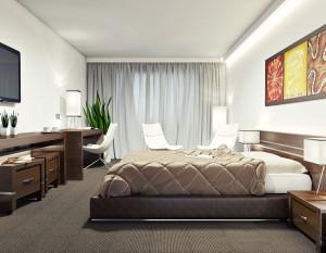 wizualizacje 3d białystok, wizualizacje wnętrz, pokój hotelowy