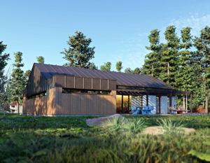 wizualizacje 3d | dom jednorodzinny | blacha na rabek