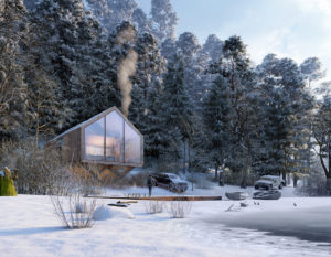 wizualizacje 3d | wizualizacje zimowe | nowoczesna architektura
