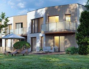 domy szeregowe | wizualizacje 3d