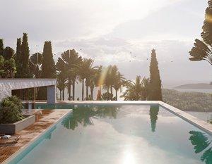 Wizualizacje 3d | Dom na wzgórzu | Grecja