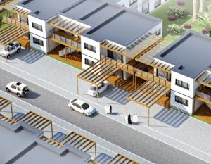 wizualizacje 3d białystok, budynki dla pracowników