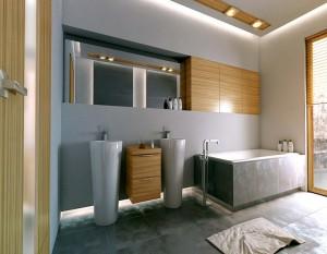 projekty wnętrz białystok, łazienka