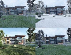Wizualizacje 3d domu jednorodzinnego