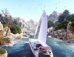 wizualizacje 3d | łódź | yacht