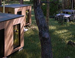 Wizualizacje 3d | Domek w lesie