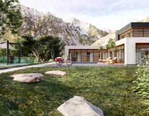 wizualizacje 3d bialystok | dom na wzgorzu