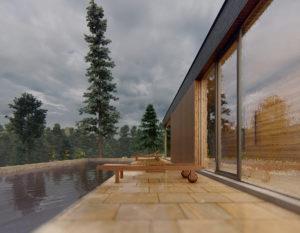 wizualizacje 3d białystok   dom w gorach