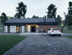 wizualizacje 3d   dom jednorodzinny   blacha na rabek