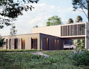 wizualizacje 3d | dom z basenem | architektura
