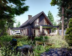 wizualizacje 3d | dom z drewna | białystok