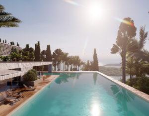 wizualizacje 3d   bialystok   dom z basenem