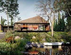 Nowoczesny dom z cegły | wizualizacje 3d | animacje 3d